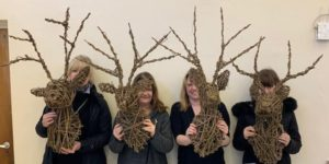 Festive Willow Weaving - Stags Head