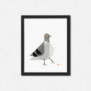 Things By Us Pigeon Print