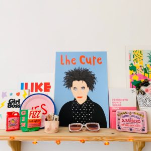 Emily Ellen Illustration Robert Smith / The Cure print