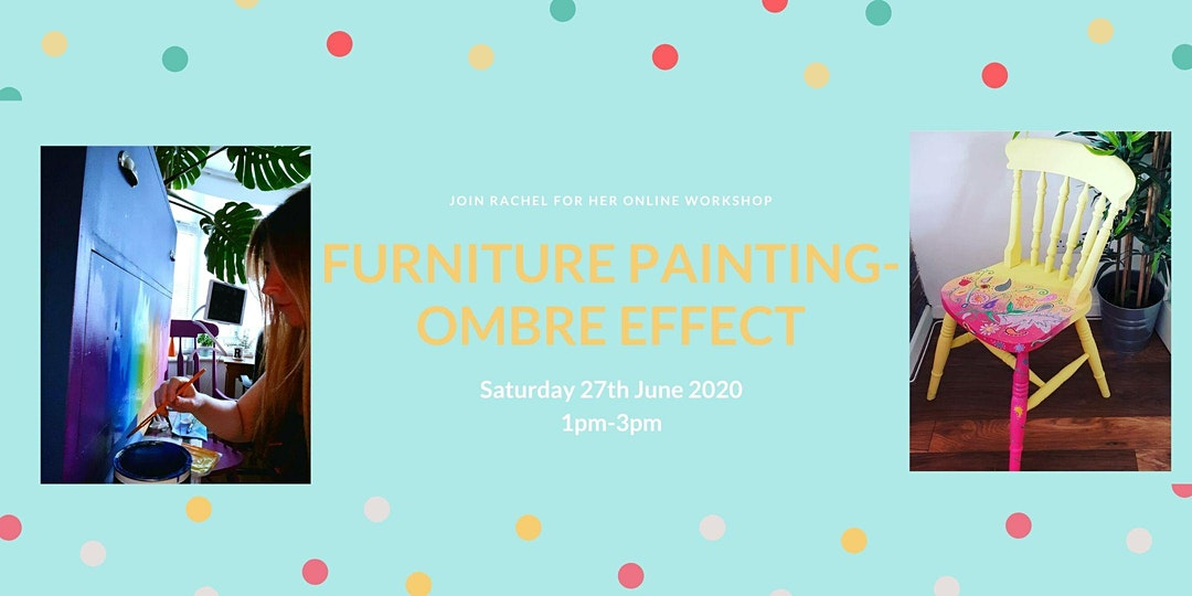 Furniture painting techniques: Ombre effect